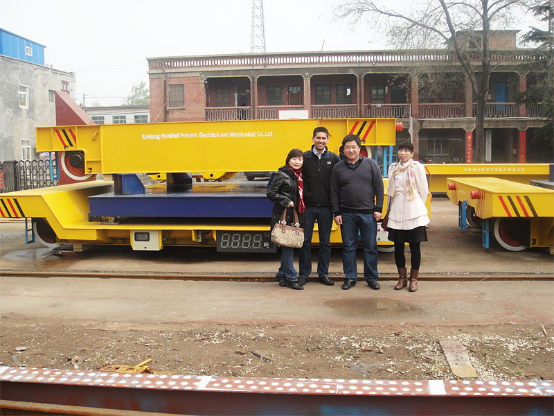 Cable reel powered rail trolley