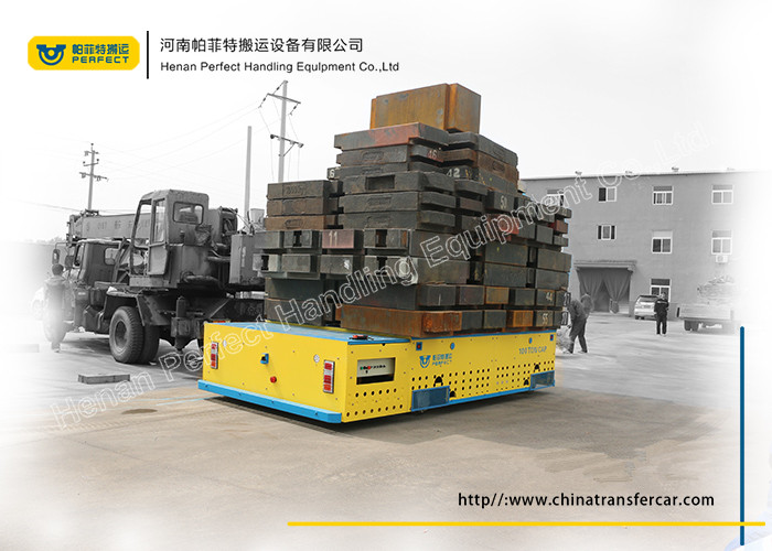battery operated material transfer trolley