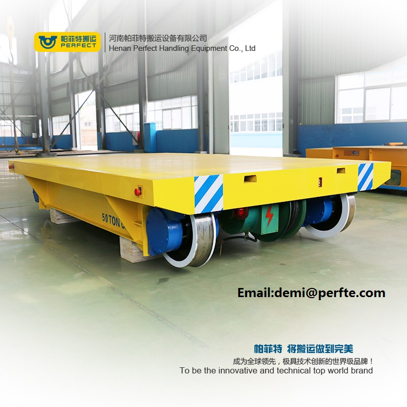 pallet rail transfer flat cars ,  transfer flat cars powered by cabled drum