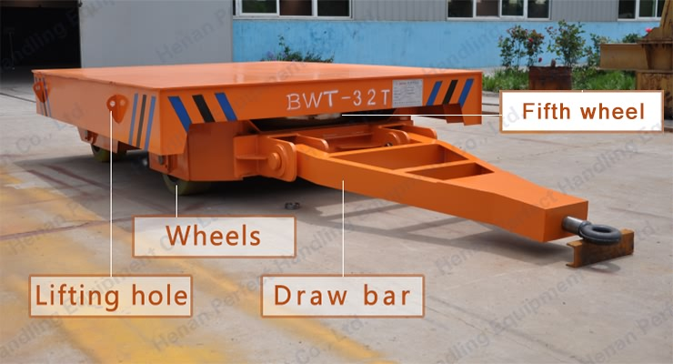 4 Whels 2 Ton tractor towed Platform Transfer Cart
